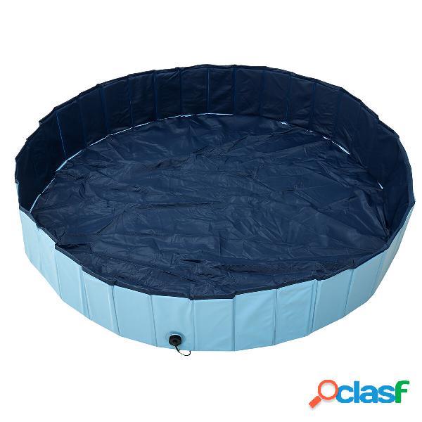 160x30cm Pieghevole Piscina per bambini Piscina per animali