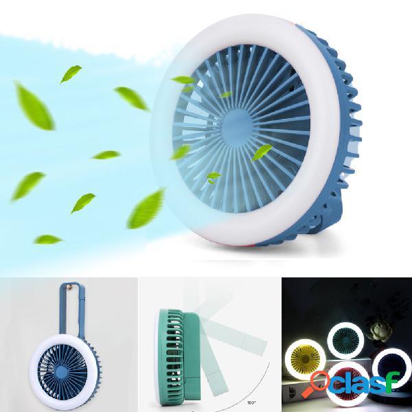 2 in 1 Mini ventilatore multifunzione 2 Modalità LED