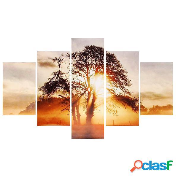 5 pezzi di pittura decorativa a parete Sunset Wall Decor Art
