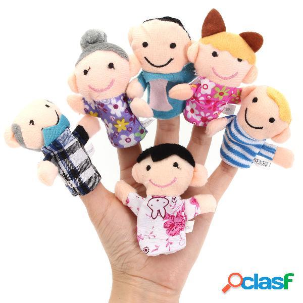 6 pc dito burattini stoffa peluche bambola giocattolo
