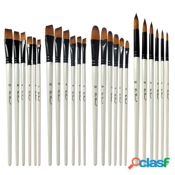 6Pcs Nylon Pittura Pennello Arte Disegno Acquarello Pennello
