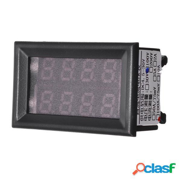 Amperometro digitale Volt Meterr luce a led Ampère Volt DC