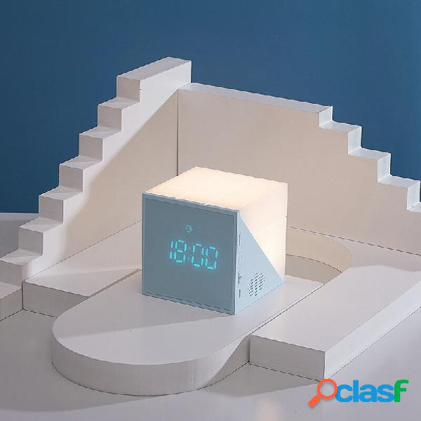 Bakeey LED Notte lampada Sveglia Comodino ricaricabile USB
