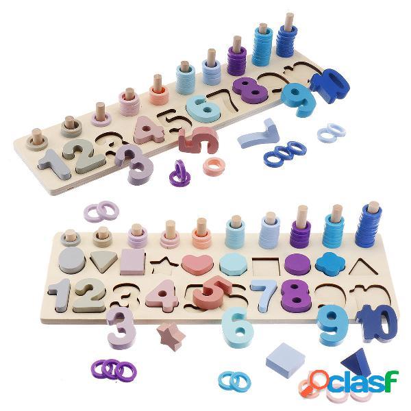Giocattoli di legno Anelli Montessori Math Toys Bordo di