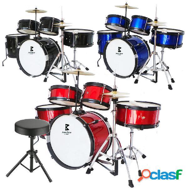 Jeanpole Musical Drum Kit Set Strumenti musicali per bambini