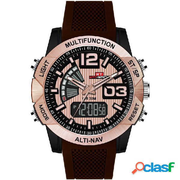 Orologio digitale KAT-WACH KT718 Dual Display cronografo
