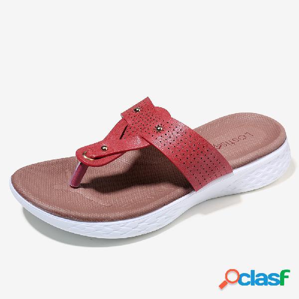 Pantofole donna LOSTISY Rivetti Comfy Toe Post Flip Flop