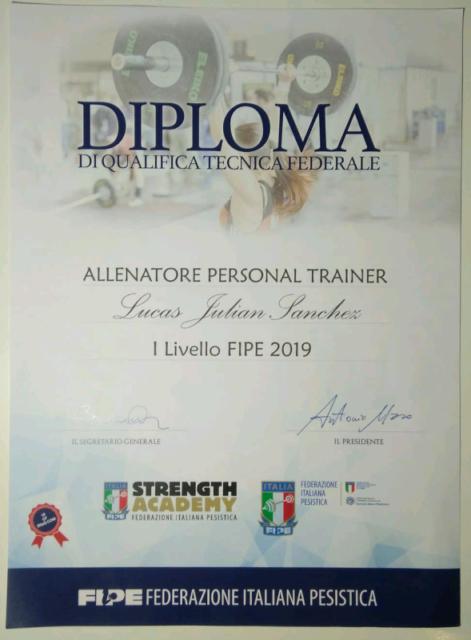 Personal Trainer Certificato