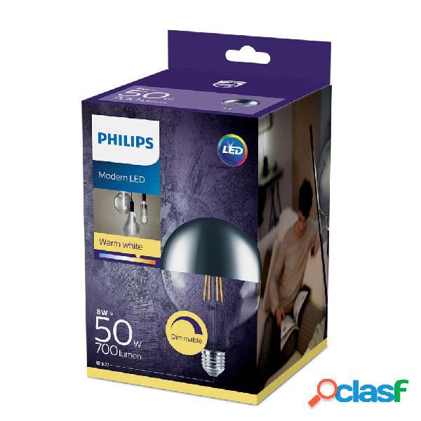 Philips Classic LEDglobe E27 G120 8W 827 Mirror | Extra Luce