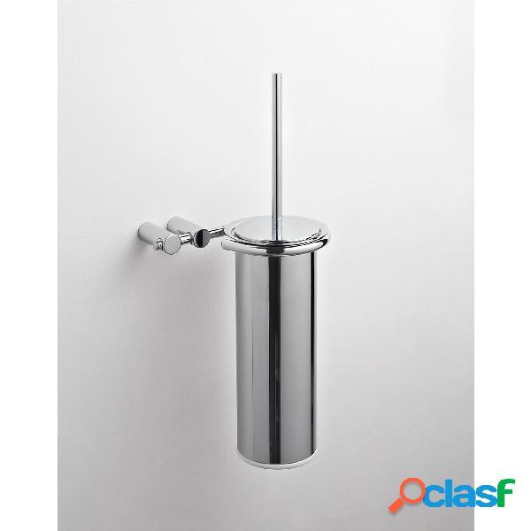 Porta scopino sospeso da bagno KIOS 16x15xh39 cm in metallo