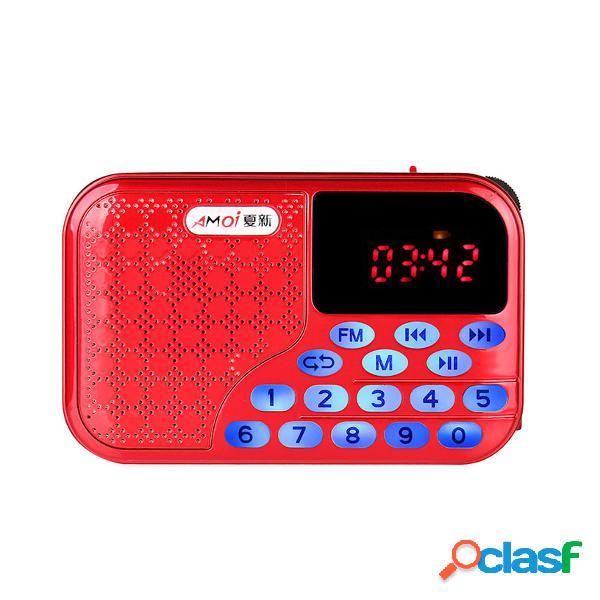 Portable Digital FM Radio U-disk TF Card Altoparlante MP3