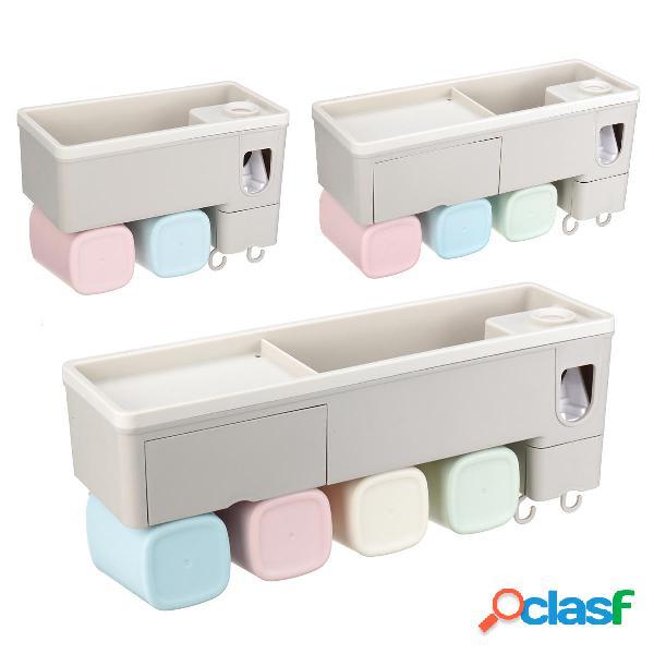 Portaspazzolino Spremi dentifricio Stand Organizzatore Set