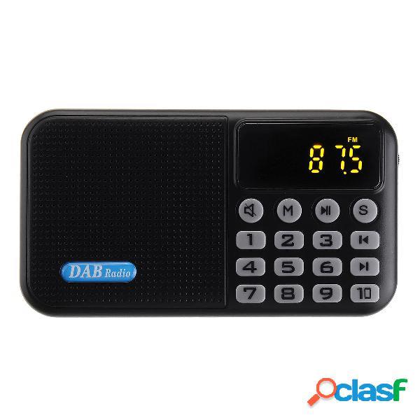 Portatile DAB Plus DAB FM digitale Radio ricevitore