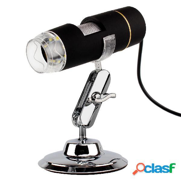 S2 USB 8 LED Microscopio digitale 1X-500X Ingranditore per