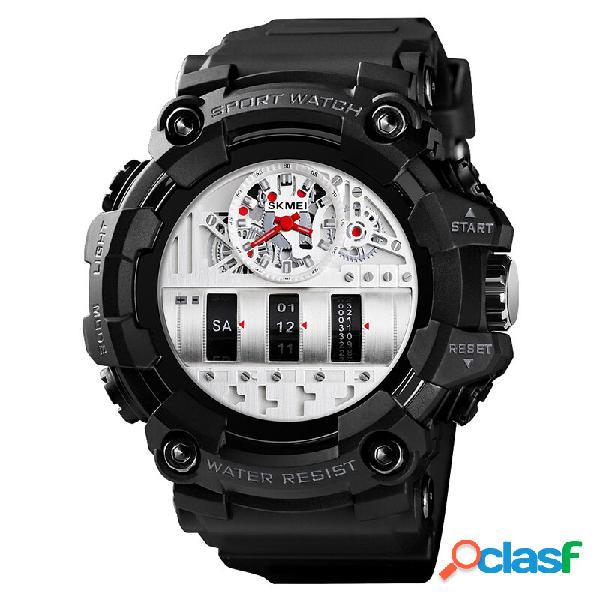 SKMEI 1557 Dual Time Display Orologio da polso sportivo da