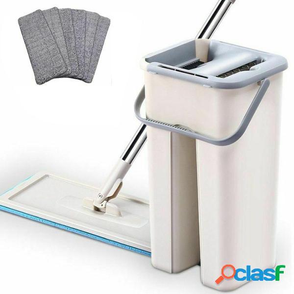 Set di detergenti per pavimenti in mop e secchio in