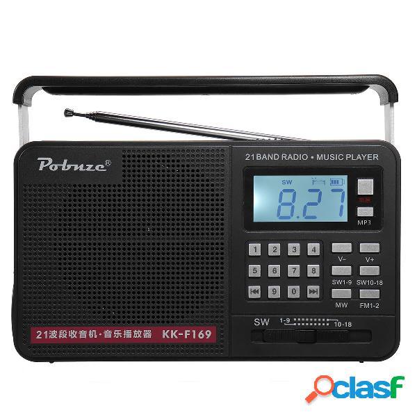 Torcia ricaricabile portatile AM SW FM FM Radio LCD Digital