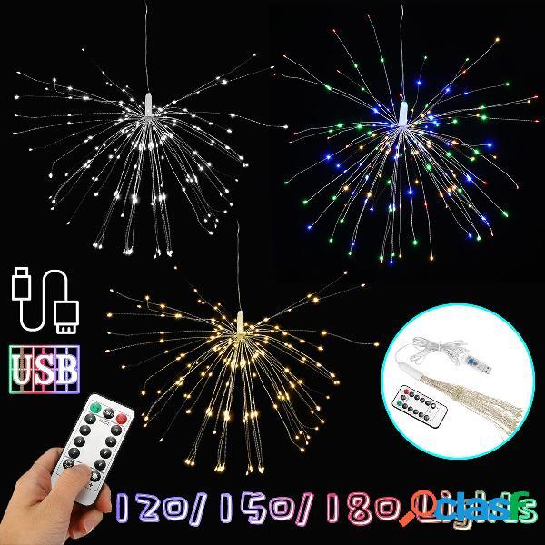 USB 120/150/180 LED Hanging Firework Fairy String Light