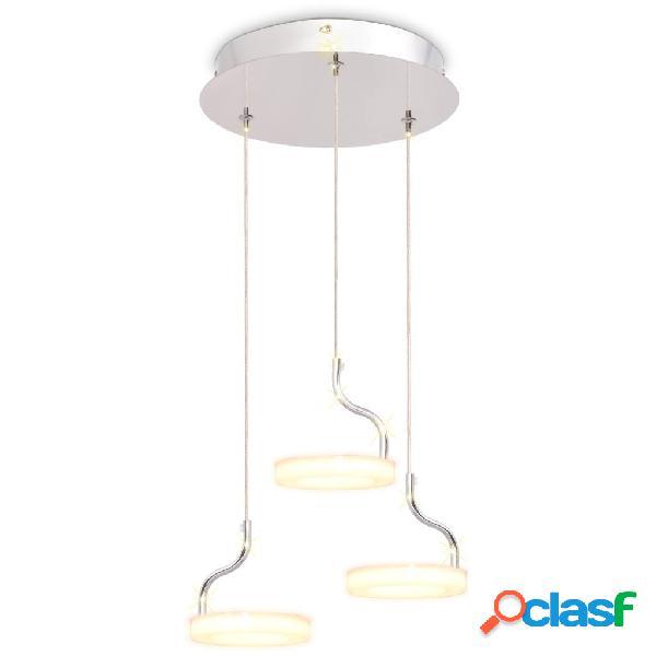 vidaXL Lampada a Sospensione a LED con 3 Luci Bianca Calda