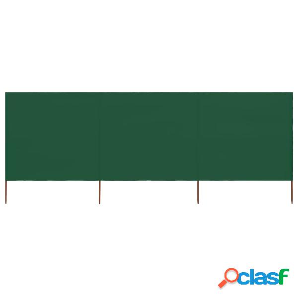 vidaXL Paravento a 3 Pannelli in Tessuto 400x160 cm Verde