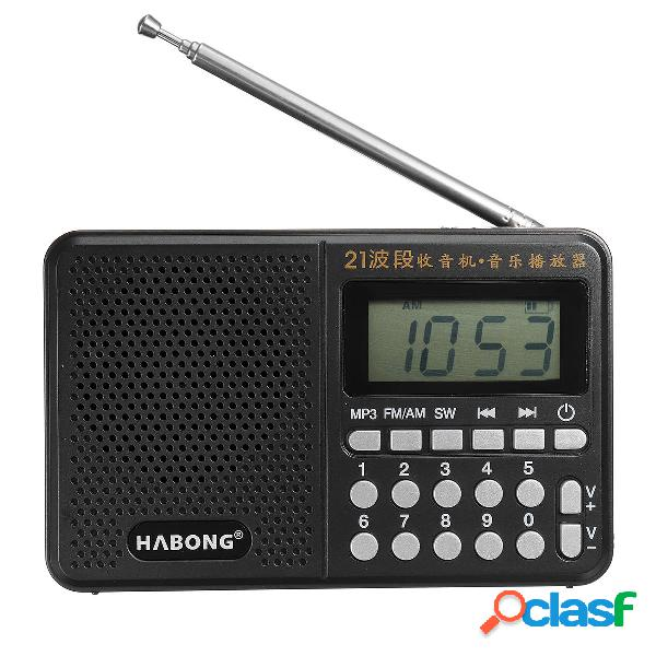 Portable Digital FM AM SW Radio 21 Banda Carica ricevitore