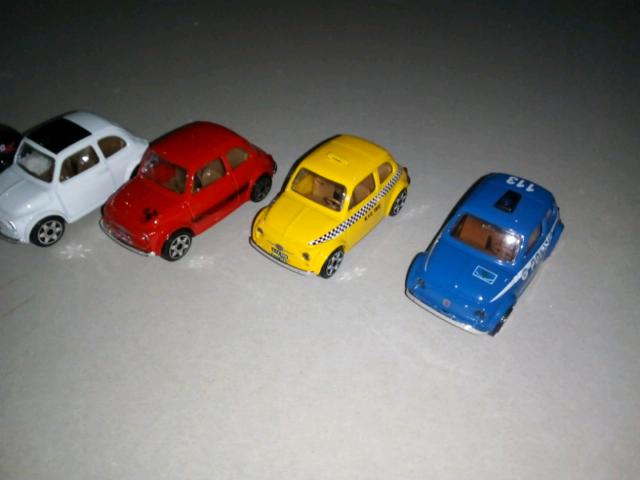 Modellini Fiat Cinquecento Vintage blocco