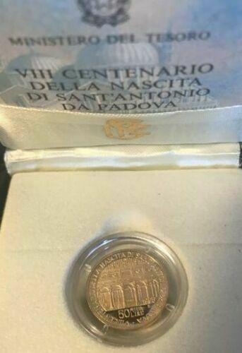 Moneta d'oro  Lire Sant'Antonio da Padova Oro