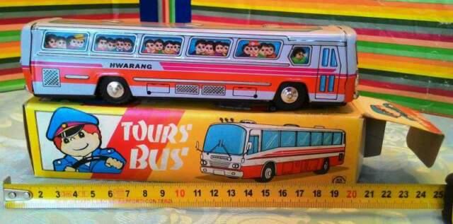 """Modellino in latta """"tour bus hwarang"""" cm 20"""