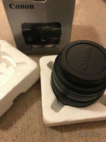 Obbiettivo Canon 50mm usato solo in casa