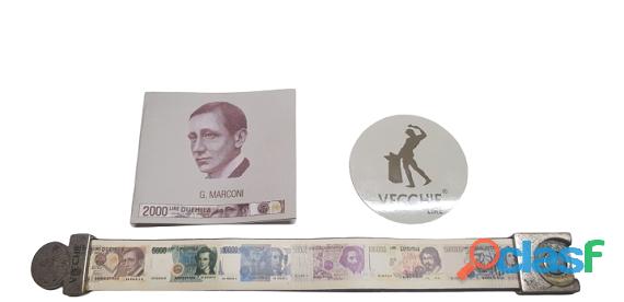 Bracciale Vecchie lire 2000 lire di G. Marconi Made In Italy