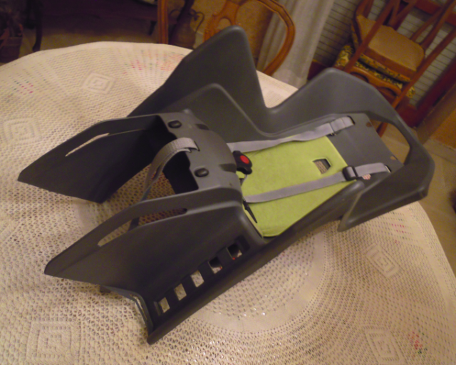Porta bimbo da bici attacco al portapacchi posteriore