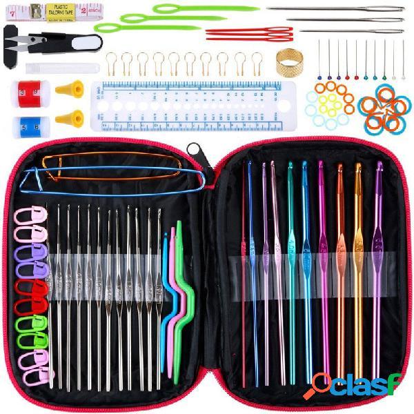 100 pezzi uncinetti set completo accessori per utensili per
