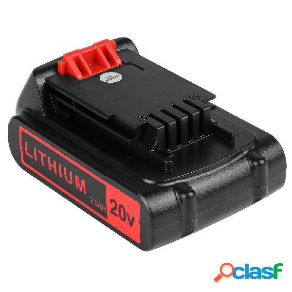 2 confezioni da 2,5 Ah 20-Volt Batteria per Black e Decker