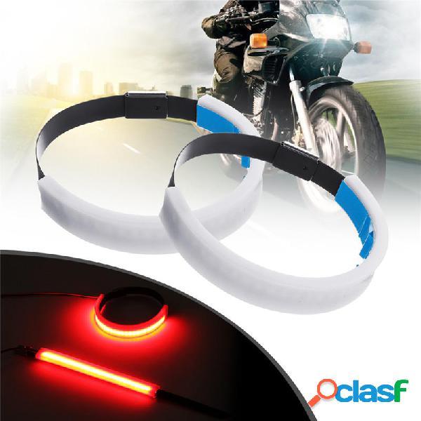 2 x Moto LED Forcella Striscia di svolta Indicatore di