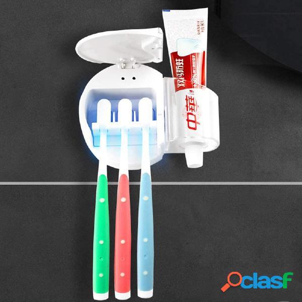 3 Denti Spazzole Spazzolino UV Porta sterilizzatore leggero