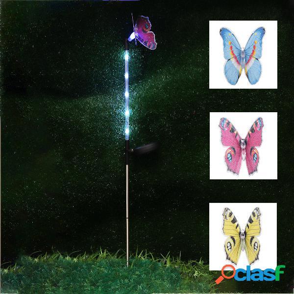3PCS solare farfalla alimentata LED prato prato palo