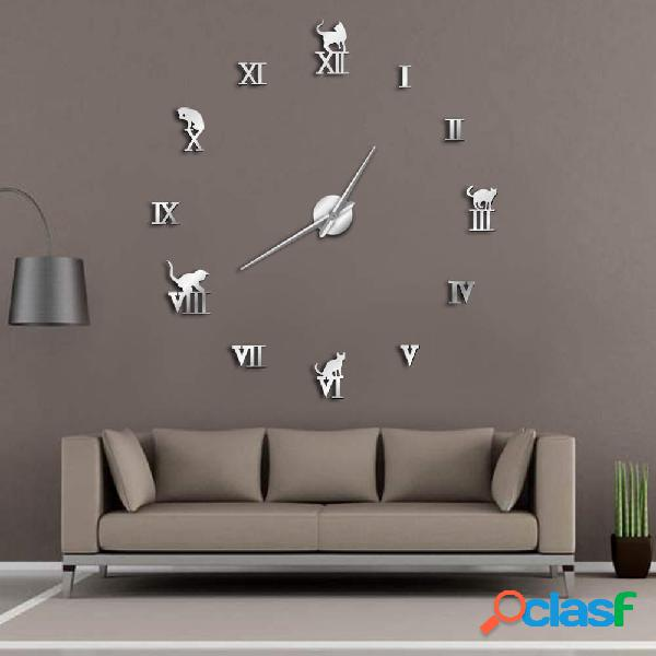 47 Pollici 3D grande orologio da parete fai da te grande