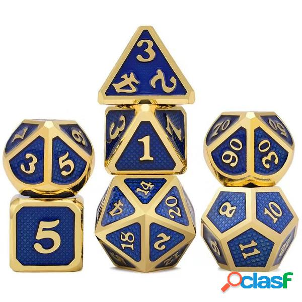 7 pezzi / set di dadi in lega di metallo Set da gioco Gioco