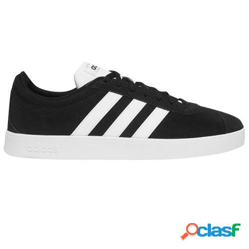 Adidas VL COURT 2 SNEAKERS BLACK/WHITE Uomo