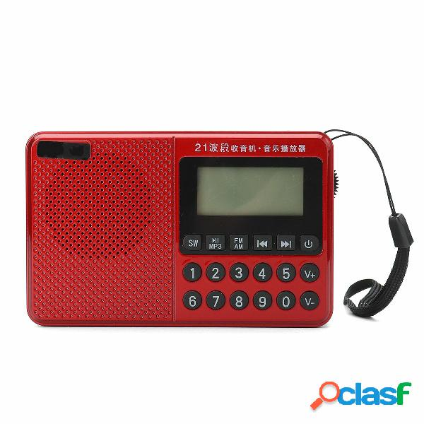 Altoparlante portatile FM AM SW 21 Bande DSP Digital Radio