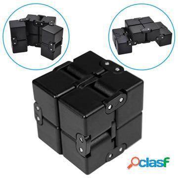 Anti-Stress Foldable Infinity Cube Fidget Toy - Black