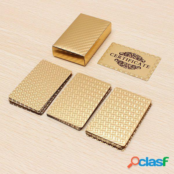 Carte da gioco placcate in oro 24 carati
