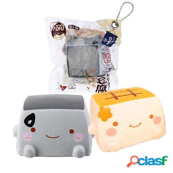 Cibo squishy Tofu giapponese 6.5CM Jumbo Toys Kawaii