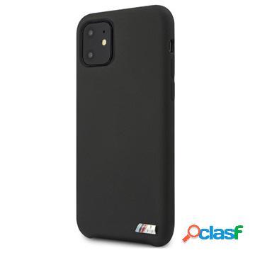 Cover in Silicone BMW M Stripe per iPhone 11 - Nera