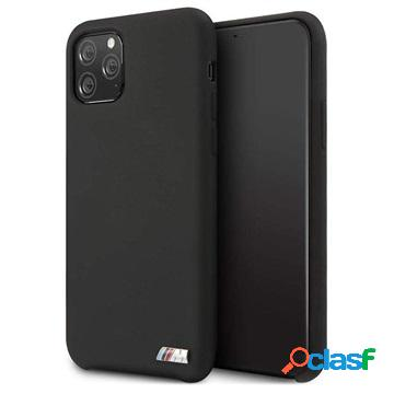 Cover in Silicone BMW M Stripe per iPhone 11 Pro Max - Nera