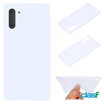 Cover in Silicone per Samsung Galaxy Note 10 - Bianca