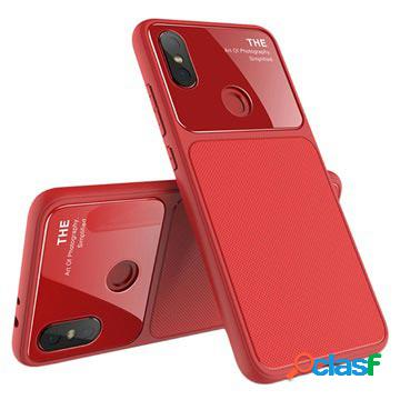 Cover in TPU Lenuo LeJazz per Xiaomi Mi A2 - Rossa