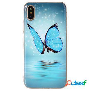 Cover in silicone che si illumina al buio per iPhone X /
