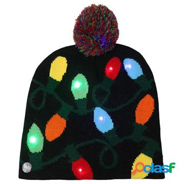 Cozy Winter Beanie Hat with LED Light - Light String
