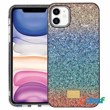 Custodia Ibrida Rainbow Series per iPhone 11 - Blu / Verde